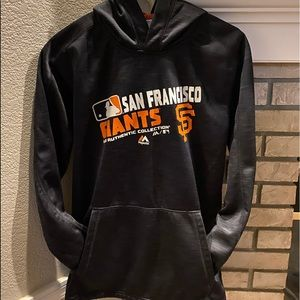 Boy's Authentic MLB Collection Giants Hoodie